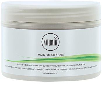 Naturativ Hair Care Getleness,Shine&Strength Schlamm-Maske für fettiges Haar