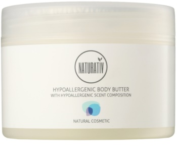 Naturativ Body Care Hypoallergenic manteiga corporal com hidratação e efeito calmante para pele seca a muito seca