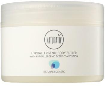 Naturativ Body Care Hypoallergenic telové maslo s hydratačným a upokojujúcim účinkom pre suchú až veľmi suchú pokožku
