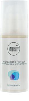 Naturativ Body Care Hypoallergenic regeneráló balzsam a berepedezett lábbőrre