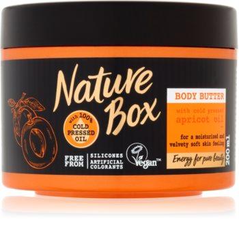 Nature Box Apricot intenzivně hydratační tělové máslo pro jemnou a hladkou pokožku