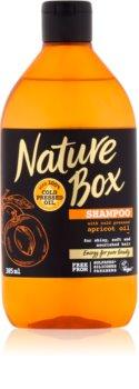 Nature Box Apricot vyživujúci šampón na lesk a hebkosť vlasov