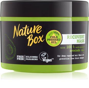 Nature Box Avocado intenzivna regeneracijska maska  za poškodovane lase