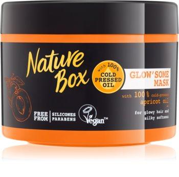 Nature Box Apricot поживна інтенсивна маска для блиску та шовковистості волосся