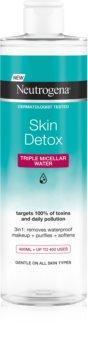 Neutrogena Skin Detox Micellar Cleansing Water for Waterproof Make-up