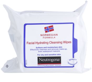 Neutrogena Face Care tisztító törlőkendő száraz és érzékeny bőrre