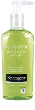 Neutrogena Visibly Clear Pore & Shine gel de limpeza contra brilho de rosto i poro dilatados