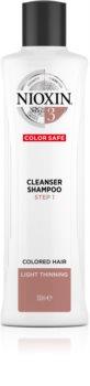 Nioxin System 3 szampon oczyszczający do rzednących włosów farbowanych