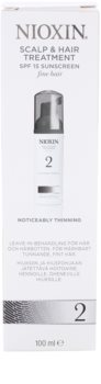 Nioxin System 2 tratamento de pele para queda excessiva do cabelo naturalmente fino