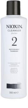 Nioxin System 2 Shampoo  voor Aanzienlijk Dun wordend Natuurlijk Haar
