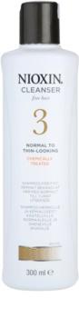 Nioxin System 3 champô para rarefação inicial suave de cabelo quimicamente tratado