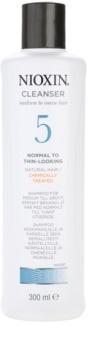 Nioxin System 5 tisztító sampon vegyileg kezelt finom, normál vagy erős szálú haj enyhe ritkulása ellen