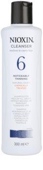 Nioxin System 6 champô de limpeza para rarefação marcante de cabelo normal a forte, natural e quimicamente tratado