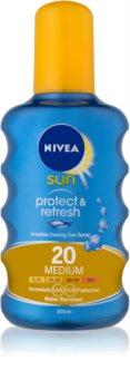 Nivea Sun Protect & Refresh chladivý neviditeľný sprej na opaľovanie SPF 20