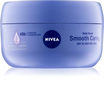 Nivea Smooth Caring cremă de corp, pentru piele uscată sau foarte uscată