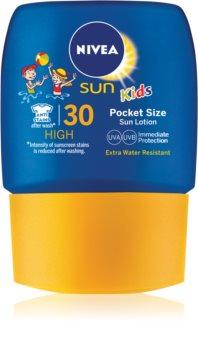 Nivea Sun Kids дитяче молочко для засмаги міні варіант SPF 30