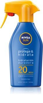 Nivea Sun Protect & Moisture hidratáló napozó spray SPF 20