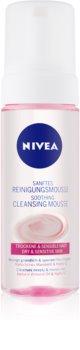 Nivea Aqua Effect mousse de limpeza para pele seca e sensível
