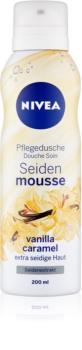 Nivea Silk Mousse Vanilla Caramel spumă de duș pentru îngrijire