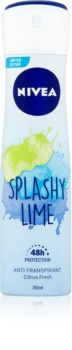 Nivea Splashy Lime Antiperspirant Spray 48h