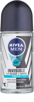 Nivea Men Invisible Black & White antitranspirante roll-on para homens