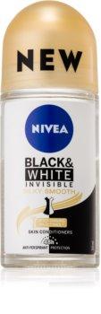 Nivea Invisible Black & White Silky Smooth kuličkový antiperspirant bez alkoholu