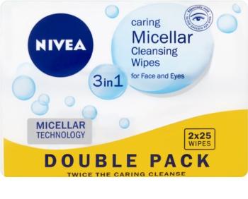 Nivea Micellar очищуючі міцелярні серветки для обличчя 3в1