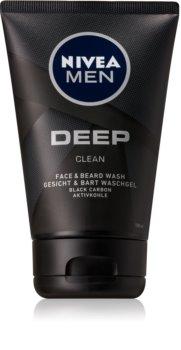 Nivea Men Deep gel de limpeza para rosto e barba
