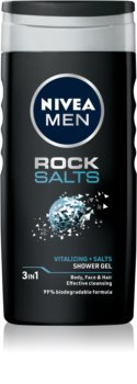 Nivea Men Rock Salt Shower Gel for Face, Body, and Hair