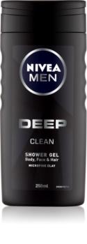 Nivea Men Deep gel doccia per viso, corpo e capelli