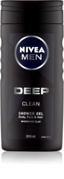 Nivea Men Deep гель для душу для обличчя, тіла та волосся