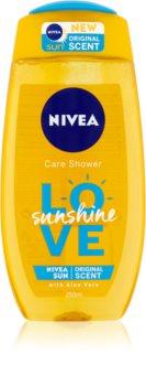 Nivea Love Sunshine odświeżający żel pod prysznic z aloesem