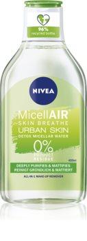 Nivea Urban Skin Detox eau micellaire 3 en 1 à l'extrait de thé vert