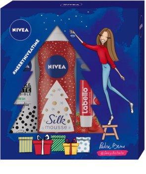 Nivea Silk Mousse Sweet Snowflakes kosmetická sada I.