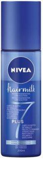 Nivea Hairmilk 7 Plus condicionador restaurador leave-in para cabelo normal