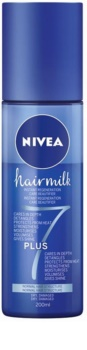 Nivea Hairmilk 7 Plus регенериращ балсам без отмиване  за нормална коса