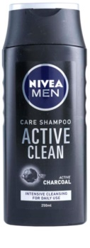 Nivea Men Active Clean sampon aktív faszénnel