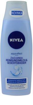 Nivea Aqua Effect čisticí pleťové mléko a voda 2 v 1