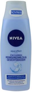 Nivea Aqua Effect oczyszczające mleczko i woda 2 w 1