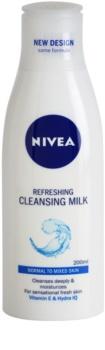 Nivea Aqua Effect osviežujúce čistiace pleťové mlieko pre normálnu až zmiešanú pleť