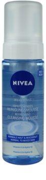 Nivea Aqua Effect mousse de limpeza refrescante para pele normal a mista