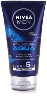 Nivea Men Aqua gel com efeito molhado fixação extra forte