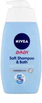Nivea Baby šampon a pěna do koupele 2 v 1