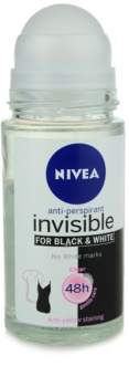 Nivea Invisible Black & White Clear roll-on antibacteriano