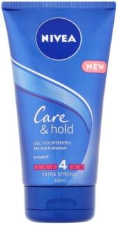 Nivea Care & Hold výživný gél na vlasy pre extra silnú fixáciu