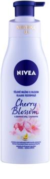 Nivea Cherry Blossom & Jojoba Oil lapte de corp cu ulei
