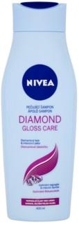 Nivea Diamond Gloss Shampoo für strapaziertes Haar ohne Glanz