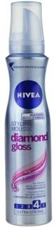 Nivea Diamond Gloss pianka do włosów utrwalająca