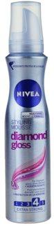 Nivea Diamond Gloss αφρώδες σκληρυντικό μους