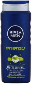 Nivea Men Energy gel doccia per viso, corpo e capelli